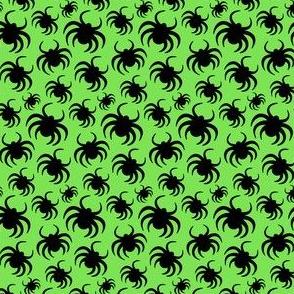 Halloween Spiders Green Kids Halloween Cute