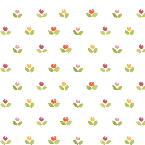 tulips fabric by laurapol on Spoonflower - custom fabric