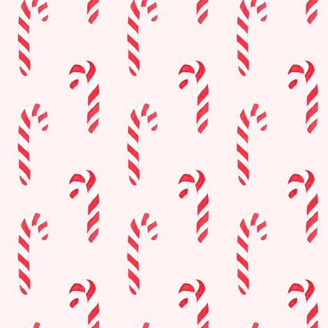 Candy Canes pink fabric by mintpeony on Spoonflower - custom fabric