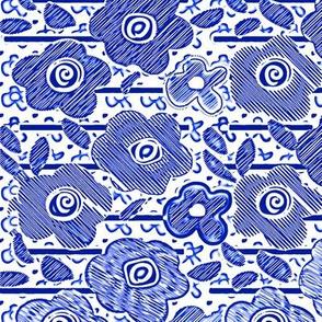 FLOWERS BLUE TOO  236