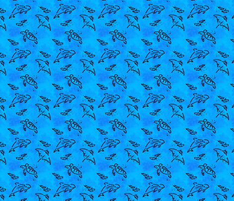 Endangered marine animals fabric by tigerlilytidbits on Spoonflower - custom fabric