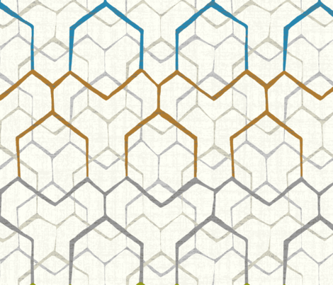 Hexagon overlay fabric by deep-creations on Spoonflower - custom fabric