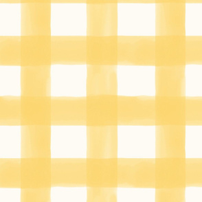 Watercolor Gingham // Butter Yellow