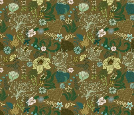 Floral fantasy fabric by joanna_plucknett on Spoonflower - custom fabric