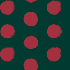 Blush on Forest -Painted Polka Dots