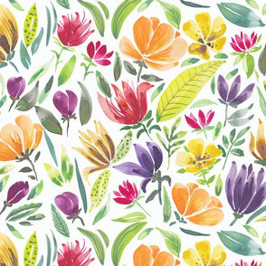 Joyful watercolour floral