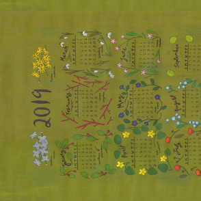 Wildflower Calender Tea Towel