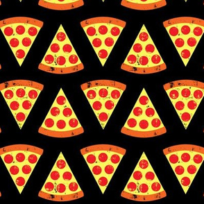 pizza slices - Pepperoni - on black