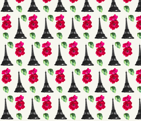 Love for Paris fabric by juliescreations on Spoonflower - custom fabric