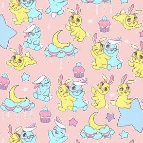 Pastel Anime Bunny Print