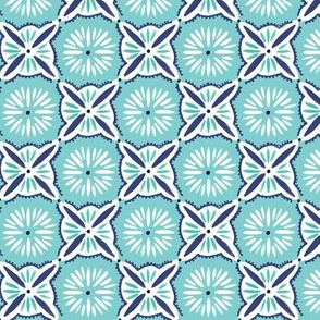 Daisy Tile - Turquoise