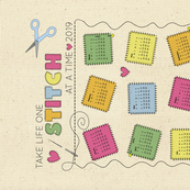 One stitch at a time tea towel calendar