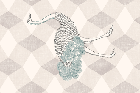 Majestic Ostrich fabric by juliaschumacher on Spoonflower - custom fabric