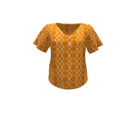 Orange Batik Geometric