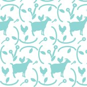 Goats_and_hens_teal_blue_on_white_shop_thumb