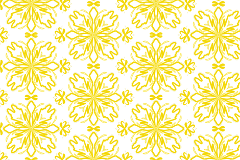 Yellow Flower fabric by macke_mouse on Spoonflower - custom fabric