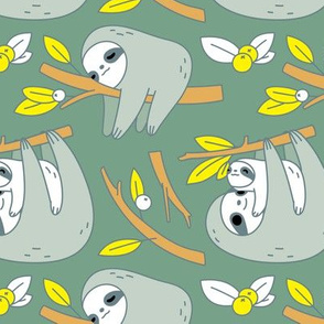 Sloth Pattern in Green