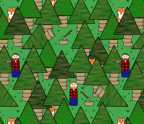 little lumber jacks fabric by b0rwear on Spoonflower - custom fabric