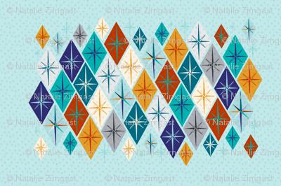Starburst diamonds tea towel