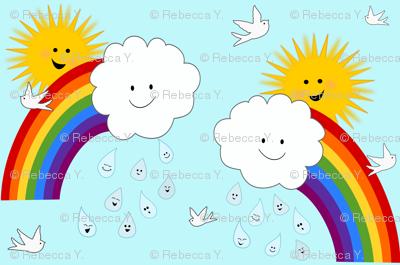 Happy Sunshine And Rainbows