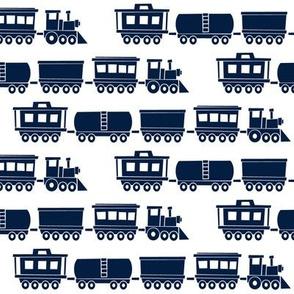 trains - navy C18BS