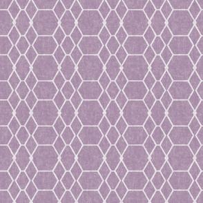 Lavender Batik Geometric