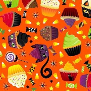 Spooky Kitty Cat Cupcakes