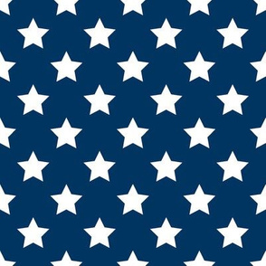 FS Admiral Navy Blue with 1 Inch White Stars