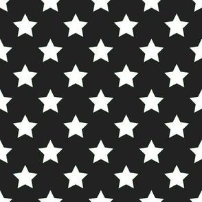 FS White Stars on Raven Black
