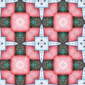 Watercolor symmetric pattern