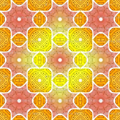 Watercolor symmetric pattern