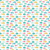 Colourful Hand Drawn Fish Under The Sea