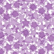 Watercolor stars in violet