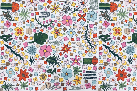 flower power towel fabric by bohoshineboutique on Spoonflower - custom fabric