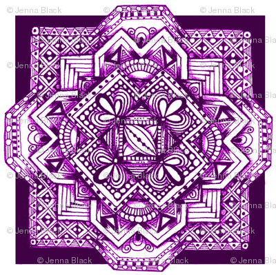 square medalion purple