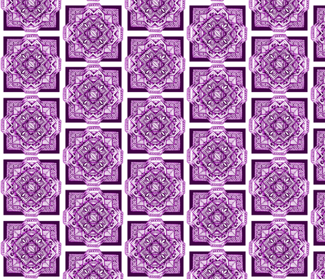 square medalion purple fabric by jennablackzen on Spoonflower - custom fabric