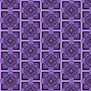 square medalion black on lavender