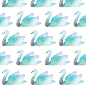 Magical Swans (Collage)
