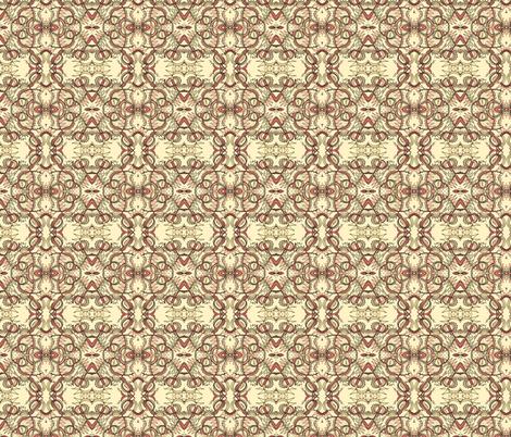 Venus fly -cream fabric by unclemamma on Spoonflower - custom fabric