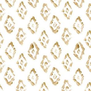 """4"""" Southwestern Gold Diamond // White"""