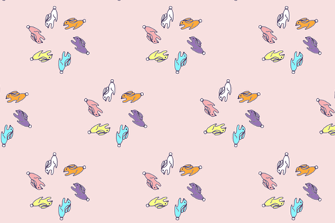 rabbits fabric by synesthete on Spoonflower - custom fabric