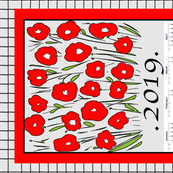 FLORAL TEA TOWEL 2019
