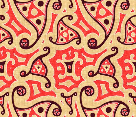 Caravan - henna fabric by ormolu on Spoonflower - custom fabric