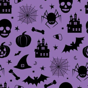Halloween Pattern Purple and Black