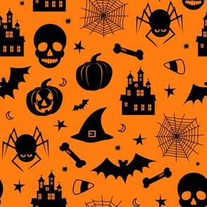 Halloween Pattern Orange and Black