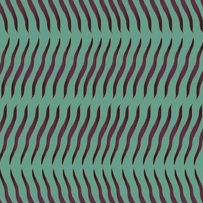 wavy lines purple on teal