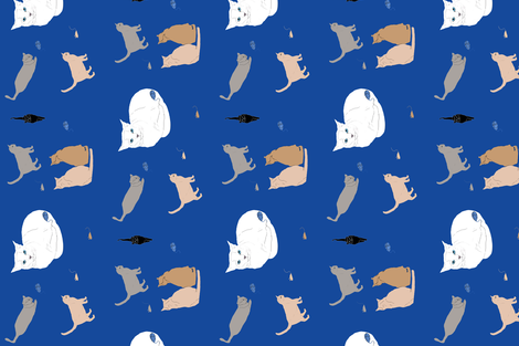 prowling cats fabric by sombrilla on Spoonflower - custom fabric
