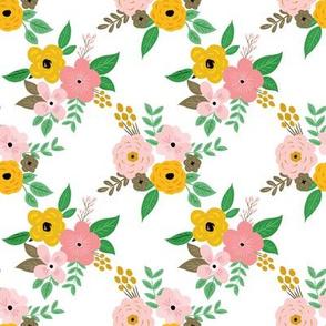 Mustard & Pink Florals