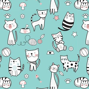 Cute Cats Seamless