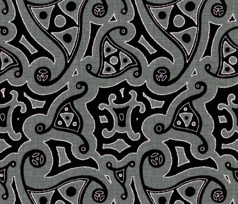 Caravan - thunder fabric by ormolu on Spoonflower - custom fabric